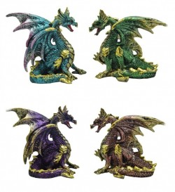 Picture of Precious Wings Dragon Figurines (Set of 4)