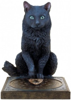 Picture of His Masters Voice Black Cat Figurine (Lisa Parker) 19cm