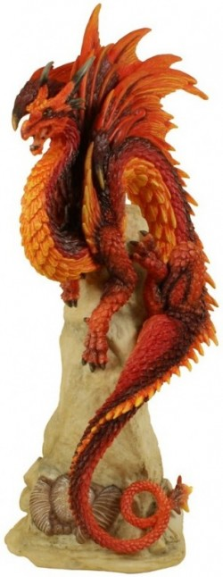 Picture of Ruby Sentinel Dragon Figurine (Andrew Bill) 27 cm