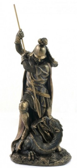 Picture of St George and the Dragon Bronze Figurine