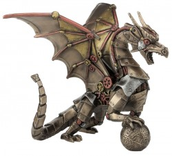 Picture of Steampunk Dragon Bronze Figurine