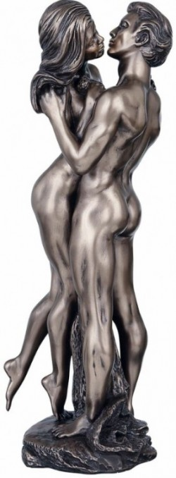 Picture of The Embrace Nude Couple Bronze Figurine 35 cm