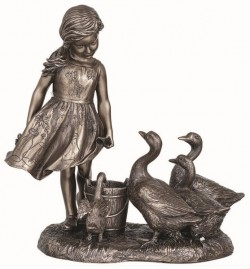 Picture of The Goose Girl Bronze Figurine 21.5cm