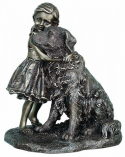 Picture of A Girls Best Friend Bronze Dog Figurine 22cm