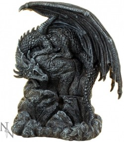 Picture of Dragon Pool Backflow Incense Burner 19cm