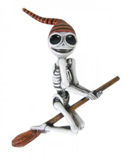 Picture of Skeleton Witch Hanging Decoration