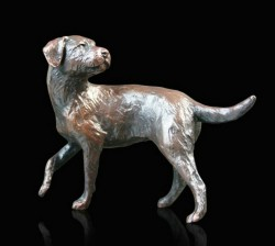 Picture of Border Terrier Bronze Figurine (Limited Edition) Michael Simpson