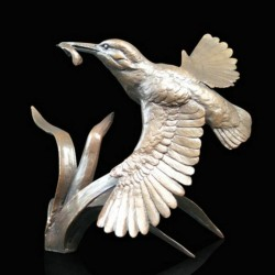 Picture of Kingfisher in Flight Figurine (Limited Edition) Michael Simpson LAST FEW LEFT