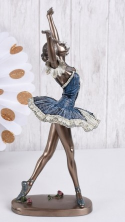 Picture of Dancing Ballerina Blue Dress Bronze Figurine 27 cm