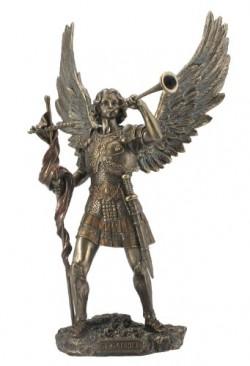 Picture of Archangel Male Gabriel with Trumpet Bronze Figurine