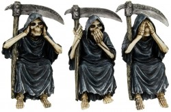 Picture of See Hear Speak No Evil Three Reapers Ornaments 14 cm