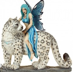 Picture of Hima Fairy Cat Rider Figurine 20cm