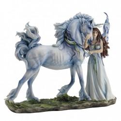 Picture of Long Live Magic Fairy and Unicorn Designer Figurine (Jody Bergsma) 31.5cm
