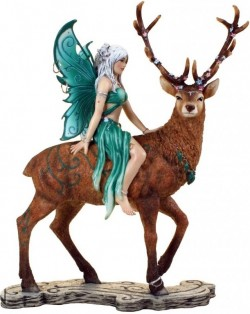 Picture of Aya Forest Fairy and Stag Figurine 19.5cm