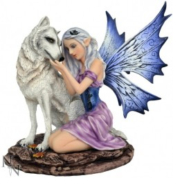 Picture of Iridessa Fairy and Wolf Figurine 16cm
