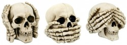 Picture of Three Wise Skulls Ornaments 11cm