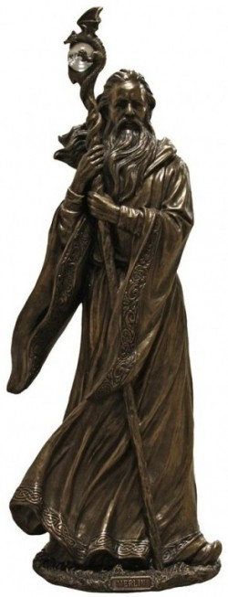 Picture of Merlin Bronze Figurine 47cm LARGE