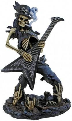 Picture of Play Dead Skeleton Rocker Figurine 24.5cm