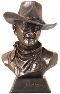 Picture of John Wayne (Licensed) Bronze Cowboy Bust 39cm with Certificate