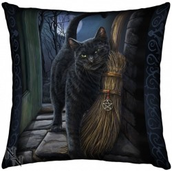 Picture of A Brush With Magick Witch Cat Cushion (Lisa Parker) 42cm