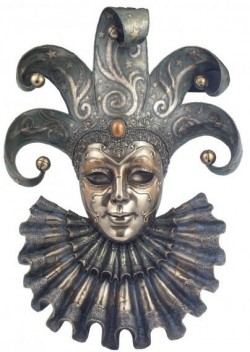 Picture of Venetian Mask Jester (Genesis Fine Arts) LARGE 50 cm