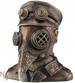 Picture of Steampunk Plague Doctor Bronze Figurine Secret Box 15.5cm