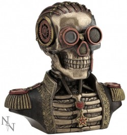 Picture of Admiral Steampunk Bronze Figurine with Secret Compartments 19cm