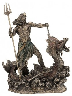 Picture of Poseidon God of the Sea Bronze Figurine 23 cm