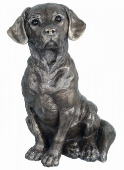 Picture of Sitting Dog Figurine 25 cm Genesis Fine Arts