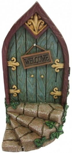 Picture of Magical Fairy Door Welcome Plaque Ornament 18cm