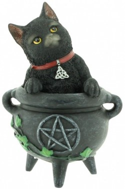 Picture of Smudge Black Cat Figurine 12cm