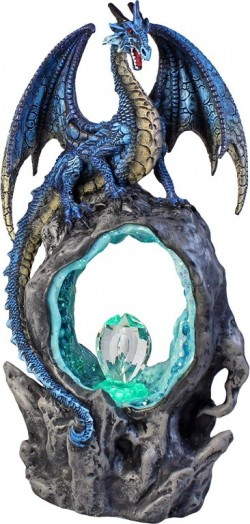 Picture of Portal of Ice Dragon Figurine Crystal Light Feature 27cm
