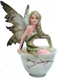 Picture of Green Tea Fairy Figurine 15cm Amy Brown