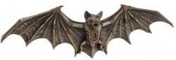 Picture of Steampunk Bat Bronze Wall Plaque Figurine 34 cm