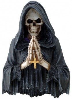 Picture of Final Prayer Reaper Wall Plaque LIGHT FEATURE 25cm