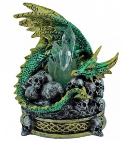 Picture of Crystal Crypt Green Dragon Figurine (Alator) LIGHT FEATURE