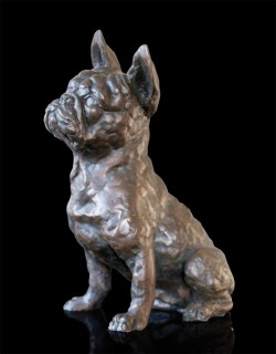 Picture of French Bulldog Frenchie Bronze Sculpture Grant Palmer 26cm