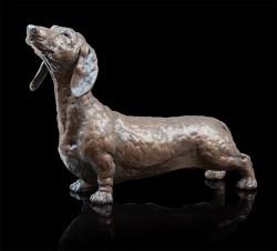 Picture of Dennis Dachshund Bronze Sculpture Grant Palmer 30 cm
