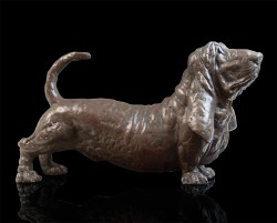 Picture of Barry Basset Bronze Sculpture Grant Palmer 33 cm