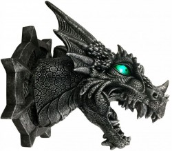 Picture of Ferox Dragon Wall Plaque LIGHT FEATURE 20cm