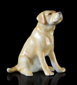 Picture of Labrador Hand Painted Fine Bone China Miniature Figurine