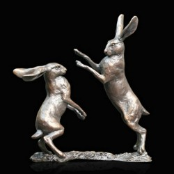 Picture of Hares Boxing Bronze Figurine (Limited Edition) Michael Simpson