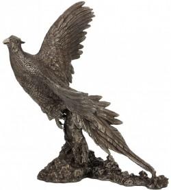 Picture of Pheasant Breaking Cover Bronze Sculpture (David Geenty) 30.5cm