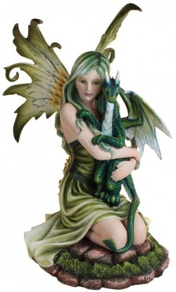 Picture of Forest Fairy and Dragon Figurine 29cm