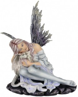 Picture of Snow Fairy and Wisdom Dragon Figurine 31cm