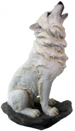 Picture of Storms Cry White Wolf Figurine 20cm