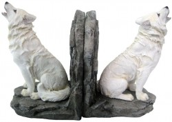 Picture of White Wolf Bookends 20cm