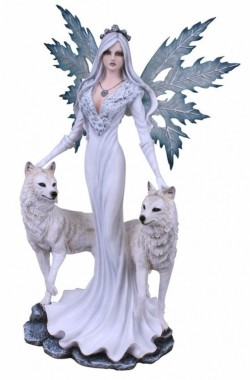 Picture of Queen of Wolves Ice Fairy Statue Large 60cm