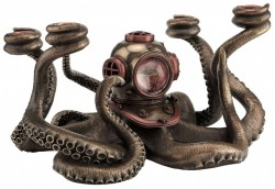 Picture of Steampunk Octopus Candle Holder Bronze Figurine