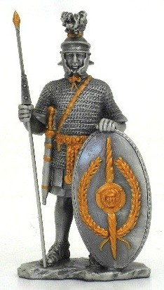 Picture of Roman with Shield Pewter Figurine